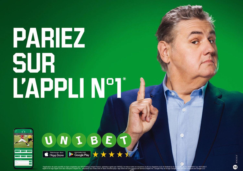 Campagne Unibet - Photo : François Ayme / Modèle : Pierre Ménès
